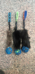 BERRA Ultimate bungee toy with real fur with blue ball