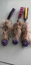 BERRA Ultimate bungee toy with real fur with small lilac ball