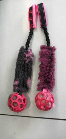 BERRA Ultimate bungee toy with fake fur with red  ball