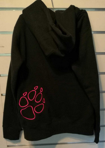 Paw College with zipper Lady fit Black