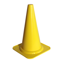 Merkkikartio 40cm Keltainen