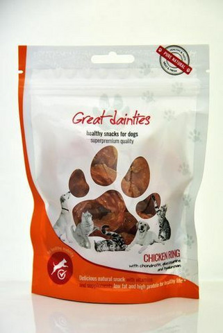 Great dainties Chicken ring with chondroitin, glucosamine and hyaluronan 100 g