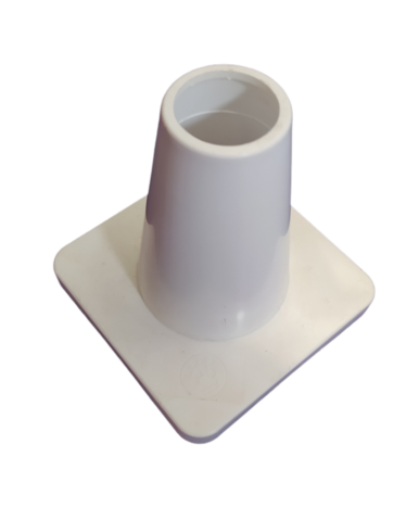 Weighted 15 cm marker cone, White