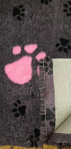 Karva-alusta Meleerattu harmaa Pinkki