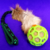 BERRA Ultimate bungee toy with reaal goat fur