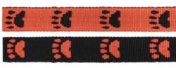 Paw leash Orange/Black
