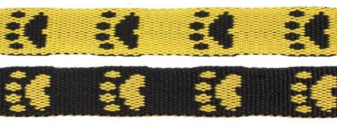 Paw leash Yellow/Black