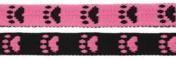 Paw leash Pink/Black