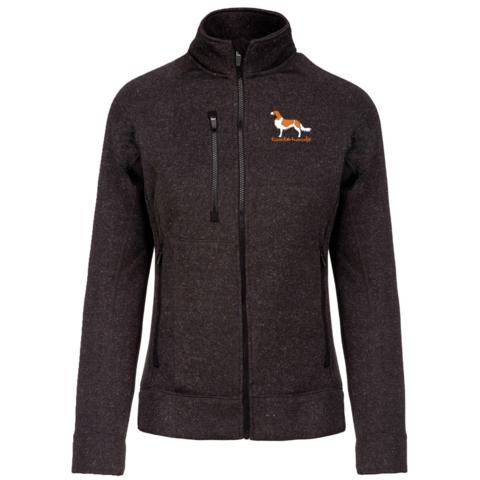 Ladies' full zip heather jacket Kooikerhondje