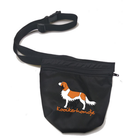 Treat bag and belt Black Kooikerhondje