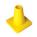 Weighted 15 cm marker cone, yellow