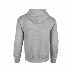 Adult Full Zip Hooded Sweatshirt Sport Grey