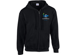 Adult Full Zip Hooded Sweatshirt Black