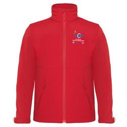 Lasten Softshell hupullinen takki  Punainen
