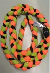 Fleece leash 160 cm BGB  vihreä oranssi musta