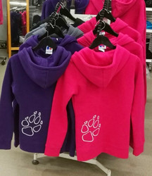 Paw College with zipper Lady fit Purple