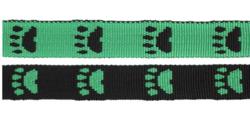 Paw leash Green/Black