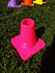 Weighted 15 cm marker cone,Neon pinkki