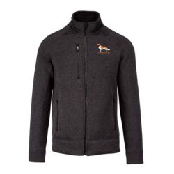 Mens full zip heather jacket Kooikerhondje