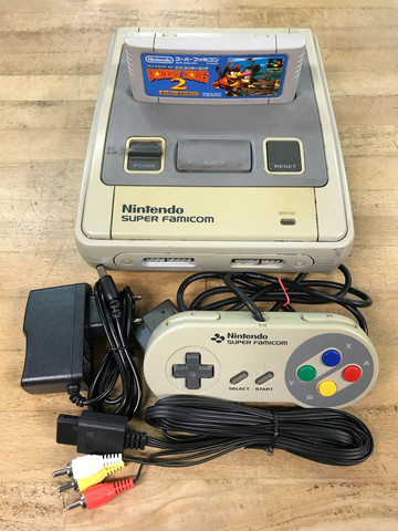 Super Famicom (JAP) + Super Donkey Kong 2