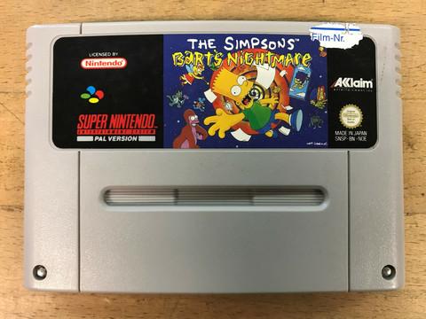 The Simpsons: Bart's Nightmare (SNES loose)