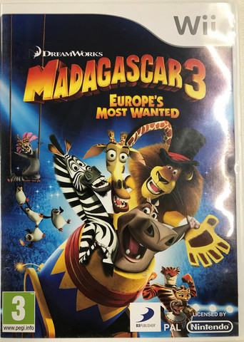 Madagascar 3: Europe's Most Wanted (Wii)