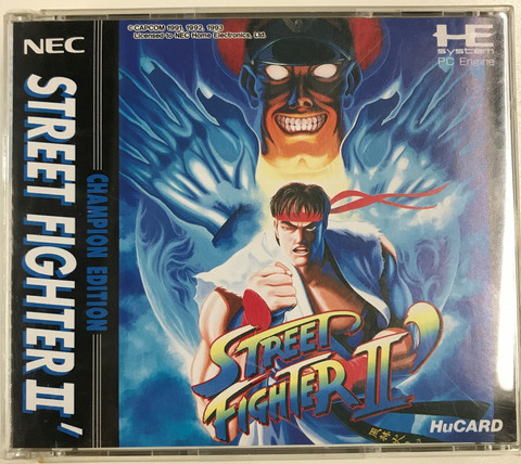 Street Fighter II Champion Edition (PCE HuCARD)