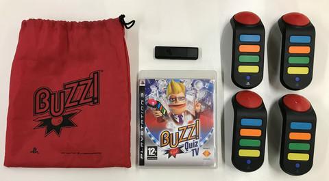 Buzz! Quiz TV + langattomat buzzerit (PS3)