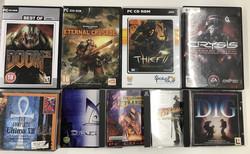 19 kpl PC CD-Rom ja DVD-ROM -pelejä.