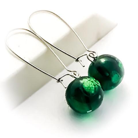 vihreää marmori kuvioinnilla korvakorut