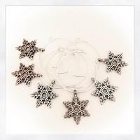 lumihiutaleet lasinkoriste