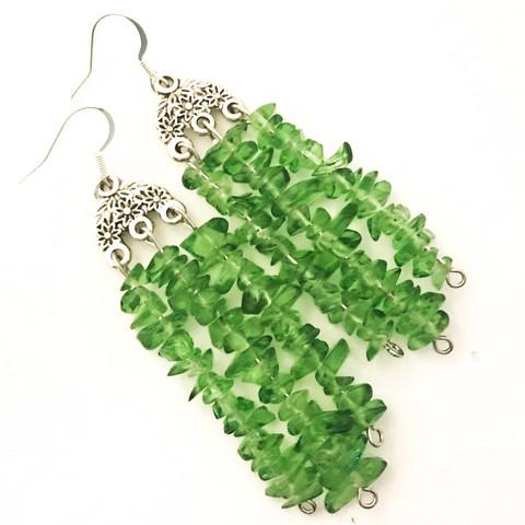 lasinugetti korvakorut vihreä
