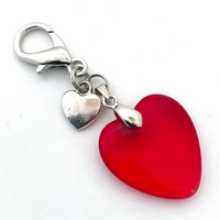 kaksi sydäntä avain/laukkukoru