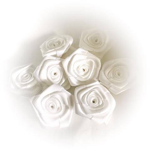 satiiniruusu valkoinen 8kpl/pakkaus