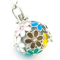 värikkäitä kukkia bling bling kivillä Harmony ball / bolakoru