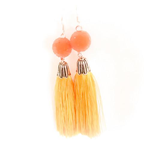 hapsu korvakorut helmellä apelsiini