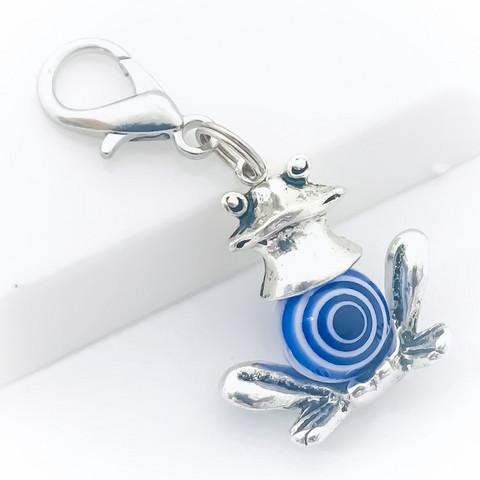 sammakko avain / laukkukoru valkoinen sininen