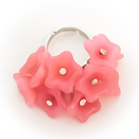 10 kukan sormus söpö pinkki