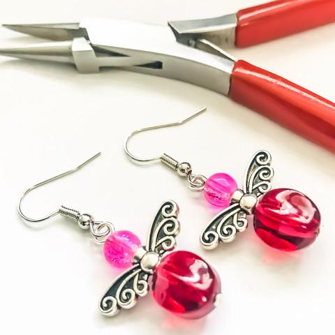 punaista & pinkkiä keijut hopea
