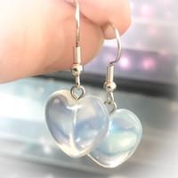 kvartsi sydän korvakorut kirkas