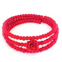 punainen ruusu vaijeri rannekoru