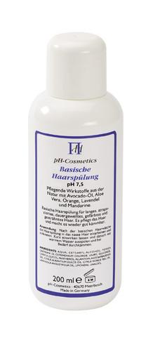 Emäksinen hiushoito pH 7,5
