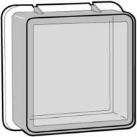 Kotelo termostaatille, IP44, valkoinen
