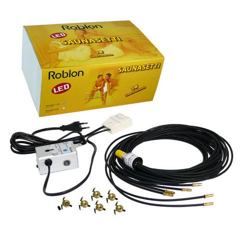 Valokuituvalaisin - Saunasetti 1 LED - Roblon