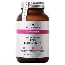 Skin Hair & Nails 60 kaps., Wild Nutrition