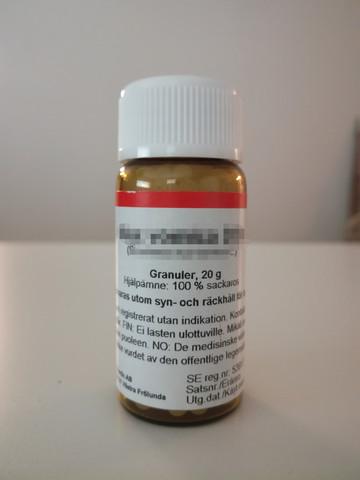 Gelsemium D30, DCG