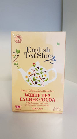 White Tea Lychee Cocoa, English Tea Shop