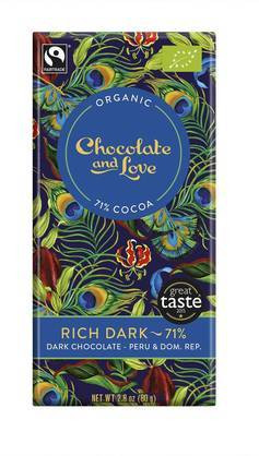 Chocolate and Love Tumma Suklaa Rich Dark 71% 80g