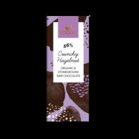 Raakasuklaa Crunchy Hazelnut 56%, Foodin