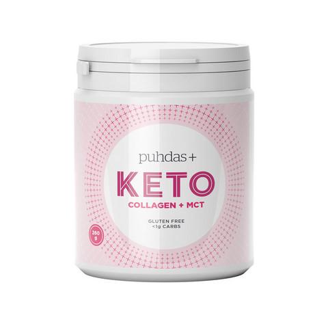 KETO Collagen+MCT 260g,  Puhdas+